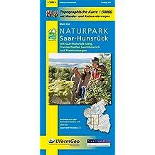 Naturpark Saar-Hunsrück, Blatt Ost, mit Saar-Hunsrück-Steig, Traumschleifen Saar-Hunsrück und Premiumwegen (Saarland): Naturparkkarte 1:50000 mit Rheinland-Pfalz 1:50000/1:100000