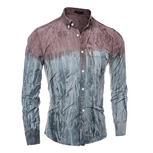 Men's High Quality Tie Dye Slim Fit Dress Shirts green