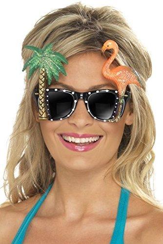 Damen Herren Hawaii Flamingo Palme Hula Junggesellinnenabschied Junggesellenabschied Abend Party Karneval Festival Lustiges Kostüm Outfit Accessoire Brillen