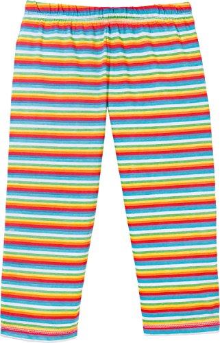 Kinderbutt Capri-Leggings Single-Jersey gestrickter Ringel Bunt Größe 122 / 128 (Mädchen Leggings Jersey)