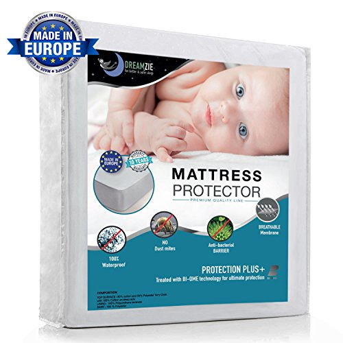Wasserdichter Matratzenschoner für Kinder (70x140cm) - Babybett Atmungsaktiv, Anti-Allergisch gegen Milben und Schimmel - Matratzenbezug mit neuartiger Behandlung: Optimaler Schutz - 10 Jahre Garantie