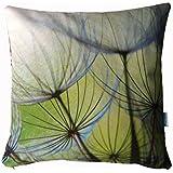 Pusteblumen Kissen, Kissenbezug, Wendekissen grün und grau, 50x50cm