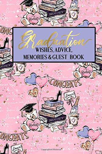 vice Memories & Guest Book: Pink Teddy Bear Girly Faux Gold | Graduation Guest Book | Message Memories Advice Wishes Gift Log | ... Women (Graduation Guest Books NYC, Band 2) ()