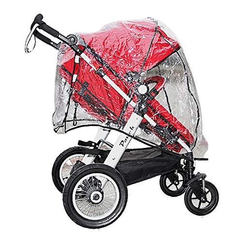 FiedFikt Regenschutz für Kinderwagen, für die meisten Kinderwagen, Kinderwagen, Regenschutz, PVC, transparent, wasserdicht, Windschutz, Wetterschutz