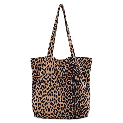 Dabixx Frauen Umhängetasche, Damen Leopard Print Handtasche Schulter Damen Handtasche Messenger Satchel Tote Bag - Aprikose - Type B -