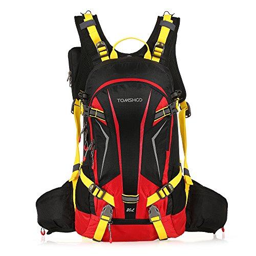 Extra Klein Farbe Schwarz (TOMSHOO Fahrradrucksack 20L, Outdoor Rucksack Multifunktionaler Wanderrucksack Skirucksack für Radfahren Reiten Bergsteigen mit Regenschutzkappe und Helmabdeckung)
