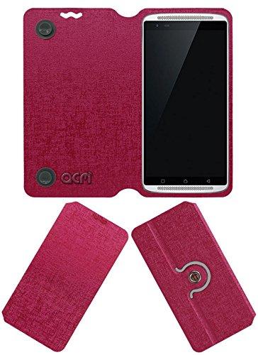 ACM Designer Rotating Flip Flap Case for Lenovo Vibe X3 Mobile Cover Pink