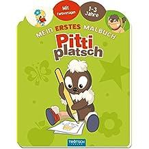Mal- & Zeichenmaterialien für Kinder Malset Pittiplatsch mit Farbpalette 1 Malbuch mit Wasserfarben und Pinseln Stück