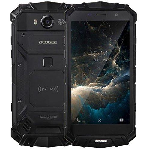 DOOGEE S60 - 5.2 pulgadas FHD Impermeable / A prueba de golpes / A prueba de polvo 4G Smartphone, 5580mAh batería 12V2A Carga rápida (soporte de carga inalámbrica), Helio P25 2.5GHz Octa Core 6 GB 64 GB, 21.0MP Cámara NFC GPS Metal Frame - Negro