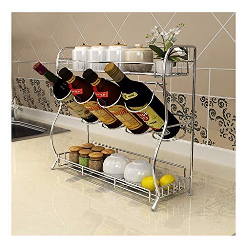 Porta spezie acciaio inossidabile mensola della cucina stendibiancheria atterraggio multilayer bambino shelf forniture da cucina