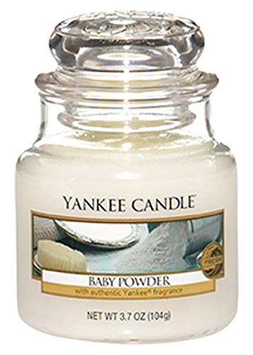 Yankee Candle Glaskerze, klein, Baby Powder