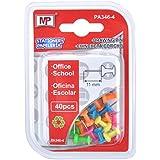 MP PA346-4 - Pack de 40 chinchetas de cabeza, fluorescente