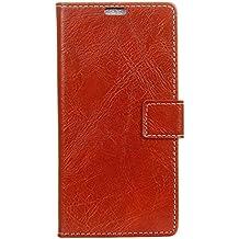 BQ Aquarius E5 Funda, Lifetrut [Flip Wallet fondos] PU de lujo de cuero magnético cartera de la cartera de protección para el BQ Aquarius E5 [rojo]