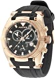 Police Raptor Men's Quartz Watch with Black Dial Chronograph Display and Black Silicone Strap 13092JSR/02