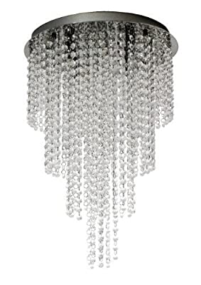 [lux.pro] LED Kristall Deckenleuchte Durchmesser: 38cm Deckenlampe 5xG9 SMD Lüster Hängeleuchte