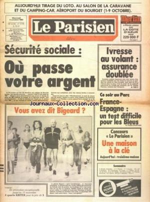 PARISIEN LIBERE (LE) [No 12145] du 05/10/1983 - SE...