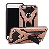 iPhone 6s H�lle, iPhone 6 Case, MUTOUREN 2 in 1 Premium Hybrid Schutzh�lle PC+TPU Handyh�lle Dual Layer Drop Protection Telefonschutz mit Standfunktion f�r iPhone 6s / iPhone 6 - Rosegold Bild