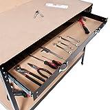 TecTake 400855, Banco de trabajo 120 x 60 x 156 cm Mesa de trabajo para taller...