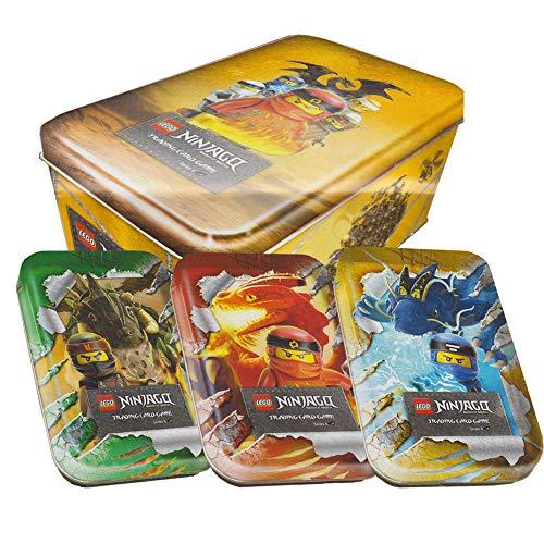 Blue Ocean Lego Ninjago - Serie 4 Trading Cards - Alle 4 Tins Komplett Paket - Deutsch