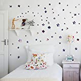 Oren Empower Set Of Stars With Unique Color Wall Sticker (Finished Size On Wall - 108(h) X 73(w) Cm)