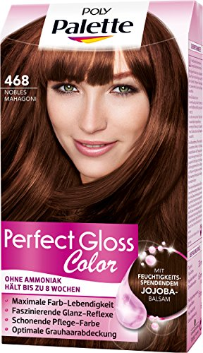 Poly Palette Perfect Gloss Color Tönung, 468 Nobles Mahagoni, 3er Pack (3 x 115 ml)