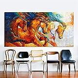 MXLF Leinwand Gemälde Hd Einziges Plakat Abstrakte Moderne Dekorative Wandgemälde Rennen Rahmenlos Leinwandmalerei Hängendes Gemälde 50 * 70cm