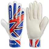 Vector X Ultimax Goalkeeping Gloves, Men's Size 8 (Blue/White/Red)