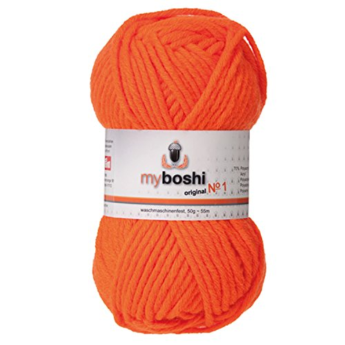 myboshi Crochet/Fil à Tricoter Laine, Mix, néon Orange