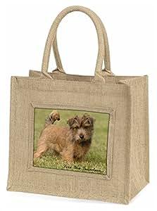 Norwich Norfolk Terrier 'Grandma' Large Natural Jute Shopping Bag Christmas Gift