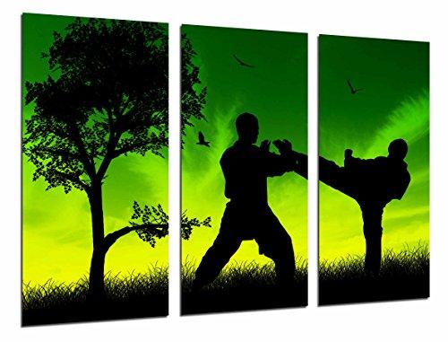 Poster Moderno Fotografico Motivacion Deporte Taekwondo, Hombres Luchando, 97 x 62 cm, ref. PST26851