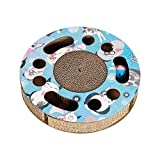 Gloria.D Cat Scratch Board Interactive Cat Toy Wheel Gatto Giocattolo Raschietto tiragraffi graffiare Bordo Gatto Giocattolo Roller Mat con Catnip