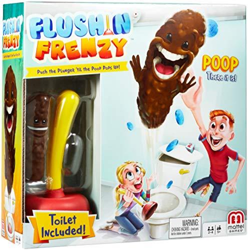 Juegos Mattel - Juego Baño Boom ¡Atrapa La Caca (FWW30)