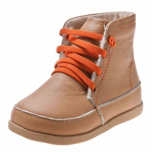 Little blue-agneau chaussons-chaussures en cuir, bottines pour garçon/beige-dimensions : 23 cm