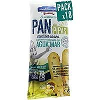 Pack 18 Palitos de pan de pipas Mediterránea, envase de 90 gramos, hechos con aceite de girasol alto oleico y agua de mar, irresistible sabor