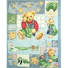 Oso Quilting Panel Kids–Panel de tela 100% algodón.