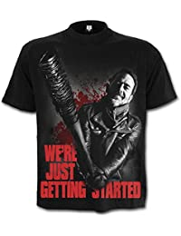 Spiral Men - Negan - Just Getting Started - Walking Dead T-Shirt Black