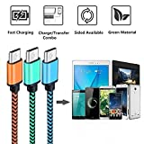 Micro USB Cable Yosou USB Charger Cable[3Pack 1M/3.3ft] Nylon Braided USB Cable High Speed Fast Android Charging Cables for Samsung, Nexus, LG, Motorola, Nokia and More-Blue, Green, Orange Bild 6