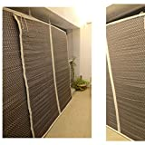 TCLPVC Economy 4/5ft Bamboo Roll Up Blind Chick Window Curtains/Protective Screens for Balcony/Windows/Outdoors/Door/Kitchen/Home/Office