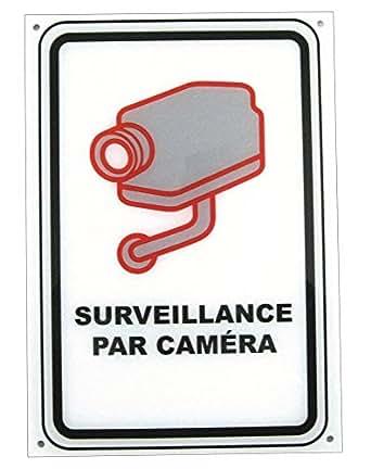 Panneau de signalisation de vidéo surveillance en plexi