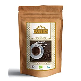 Ausha Organic Arabica Coffee Beans 1 KG (100% Organic Arabica Beans Certified by Soil Association- Single Source Origin…
