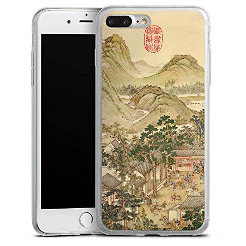 Apple iPhone 8 Plus Slim Case Silikon Hülle Schutzhülle Gemälde China Kunst Silikon Slim Case transparent