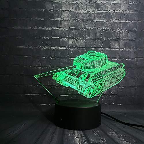 wangZJ 3d Night Light / 3d Illusion Lamp / 7 Colori Touch Night Light/Baby Bedroom Decoration/regalo di Natale/Tank Car