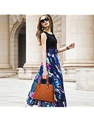 X&L Cocodrilo patrón moda mujer diagonal hombro bolso de cuero , brown