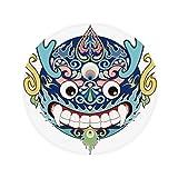 DIYthinker China Chinesischer Drache-Kopf Traditionelle Muster Anti-Rutsch-Boden Haustier-Matten Runde Badezimmer Wohnzimmer Küche Tür 80 cm Geschenk 80 X 80Cm Mehrfarbig