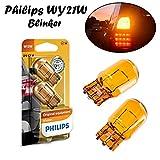 2x Philips Vision WY21W 12V W3x16d 12071B2 High Tech Orange Ersatz Halogen Birne für Blinkleuchte - Blinker vorne und hinten E-geprüft