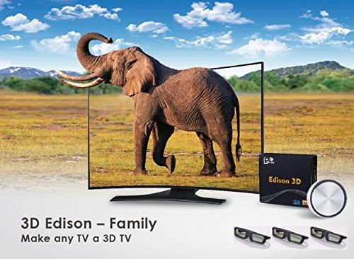 3D Edison Family - Make Any TV a 3D TV (3 x 3D Shutter Glasses)