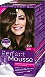 Schwarzkopf Perfect Mousse Permanente Schaumcoloration, 500 Mittelbraun Stufe 3, 3er Pack (3 x 93 ml)