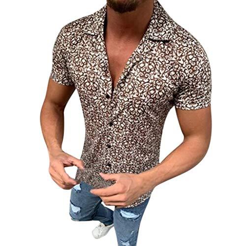 Fu-camo-t-shirt (Luckycat Funky Hawaiihemd | Herren | Kurzarm | Fronttasche | Hawaii-Print | Verschiedene Designs Herren Hemd Kurzarm Slim Fit Bambusfaser für Anzug/Business/Hochzeit/Freizeit,Hemden Shirts für Männer)