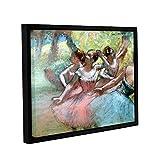 ARTWall Kunstdruck auf Leinwand Edgar Degas 's Vier Ballerinas auf der Bühne 61floater-framed Leinwand 24x32