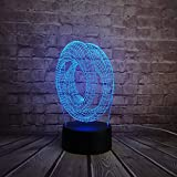 Doppelte ringförmige hohle abstrakte 3D USB LED Lampe moderne Kunst Hauptdekoration Acryl Beleuchtung Schreibtischlampe Nachtlicht Lava Geschenk RGB